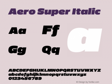 Aero-SuperItalic Version 0.000 | wf-rip DC20110725图片样张