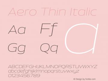 Aero-ThinItalic Version 1.000 | wf-rip DC20110725图片样张