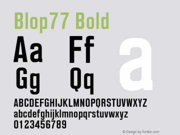 Blop77-Bold Version 1.000 | wf-rip DC20160205图片样张