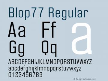 Blop77 Version 1.000 | wf-rip DC20160205图片样张