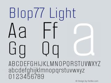 Blop77-Light Version 1.000 | wf-rip DC20160205图片样张