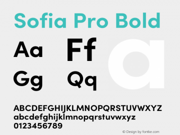 Sofia Pro Bold Version 3.002   w-rip DC20190510 Font Sample