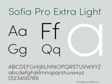 Sofia Pro Extra Light Version 3.002   w-rip DC20190510 Font Sample