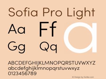 Sofia Pro Light Version 3.002   w-rip DC20190510 Font Sample