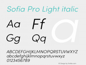 Sofia Pro Light italic Version 3.002 | w-rip DC20190510图片样张