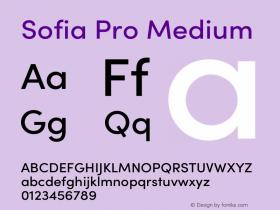 Sofia Pro Medium Version 3.002 | w-rip DC20190510图片样张