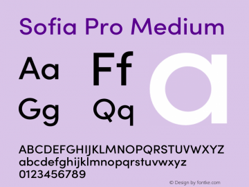 Sofia Pro Medium Version 3.002   w-rip DC20190510 Font Sample