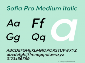 Sofia Pro Medium italic Version 3.002 | w-rip DC20190510图片样张
