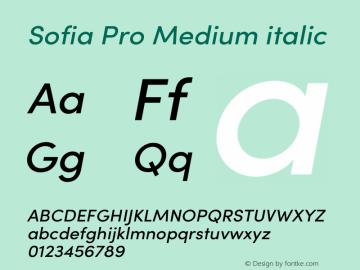Sofia Pro Medium italic Version 3.002   w-rip DC20190510 Font Sample