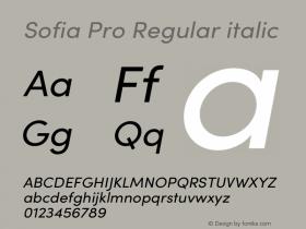 Sofia Pro Regular italic Version 3.002 | w-rip DC20190510图片样张