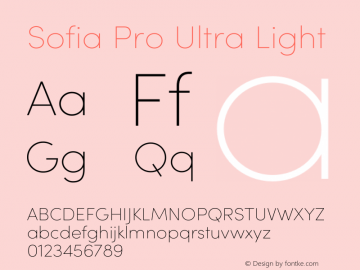 Sofia Pro Ultra Light Version 3.002   w-rip DC20190510 Font Sample
