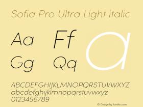 Sofia Pro Ultra Light italic Version 3.002 | w-rip DC20190510图片样张