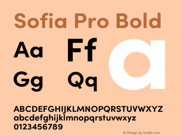 Sofia Pro Bold Version 4.0图片样张