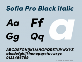 Sofia Pro Black italic Version 4.0图片样张