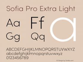 Sofia Pro Extra Light Version 4.0图片样张