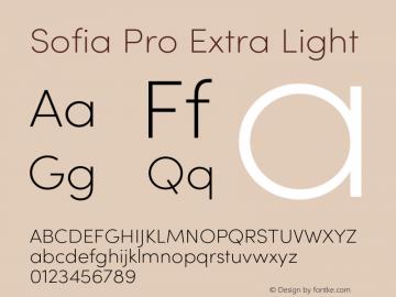 Sofia Pro Extra Light Version 4.0 Font Sample