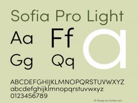 Sofia Pro Light Version 4.0图片样张