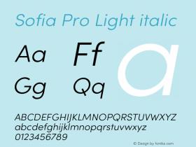 Sofia Pro Light italic Version 4.0图片样张
