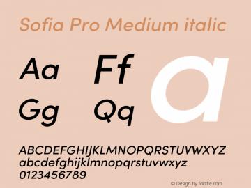Sofia Pro Medium italic Version 4.0图片样张