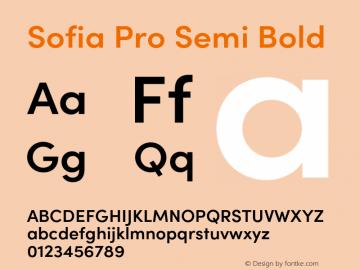 Sofia Pro Semi Bold Version 4.0图片样张