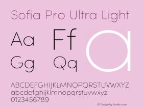 Sofia Pro Ultra Light Version 4.0图片样张