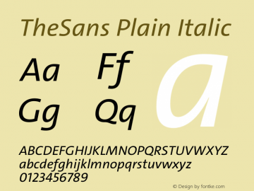 TheSans Plain Italic Version 2.000 | w-rip DC20190805图片样张