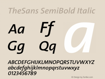TheSans SemiBold Italic Version 2.000 | w-rip DC20190805图片样张