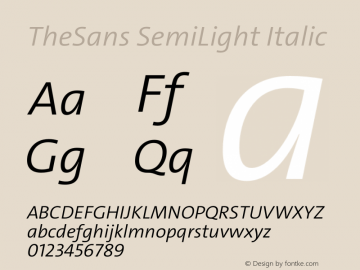 TheSans SemiLight Italic Version 2.000 | w-rip DC20190805图片样张