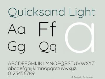 Quicksand Light Version 3.004图片样张