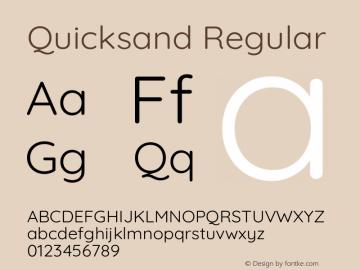 Quicksand Regular Version 3.004图片样张