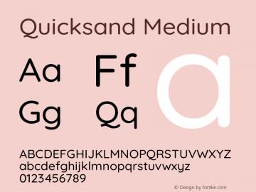 Quicksand Medium Version 3.004图片样张