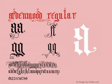 Ardenwood Regular Macromedia Fontographer 4.1.4 12/31/01 Font Sample