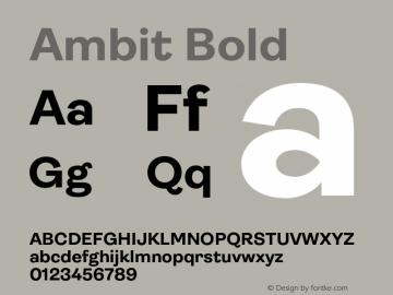 Ambit Bold Version 1.020;hotconv 1.0.109;makeotfexe 2.5.65596图片样张