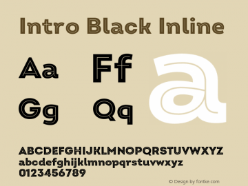 Intro Black Inline Version 2.000;hotconv 1.0.109;makeotfexe 2.5.65596 Font Sample