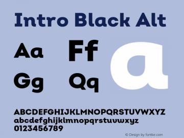 Intro Black Alt Version 2.000;hotconv 1.0.109;makeotfexe 2.5.65596 Font Sample