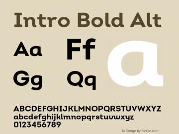 Intro Bold Alt Version 2.000;hotconv 1.0.109;makeotfexe 2.5.65596 Font Sample