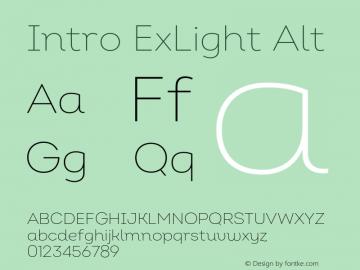 Intro ExLight Alt Version 2.000;hotconv 1.0.109;makeotfexe 2.5.65596 Font Sample