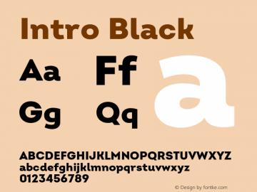 Intro Black Version 2.000;hotconv 1.0.109;makeotfexe 2.5.65596 Font Sample