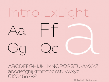 Intro ExLight Version 2.000;hotconv 1.0.109;makeotfexe 2.5.65596 Font Sample