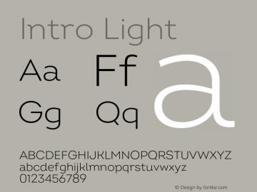 Intro Light Version 2.000;hotconv 1.0.109;makeotfexe 2.5.65596 Font Sample
