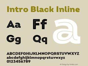 Intro Black Inline Version 2.000 Font Sample