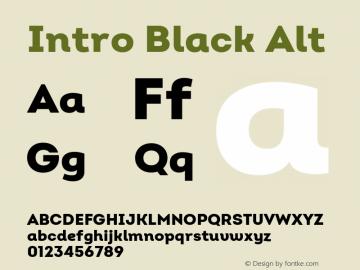 Intro Black Alt Version 2.000 Font Sample