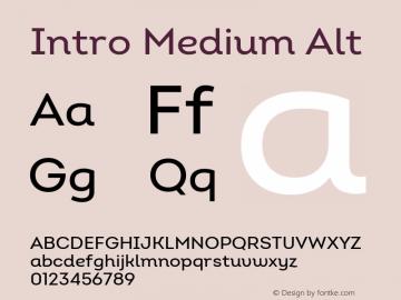 Intro Medium Alt Version 2.000 Font Sample