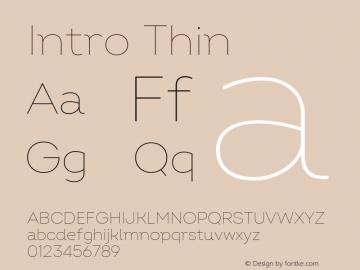 Intro Thin Version 2.000 Font Sample