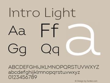 Intro Light Version 2.000; ttfautohint (v1.8) Font Sample