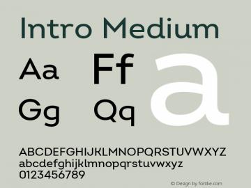 Intro Medium Version 2.000 Font Sample