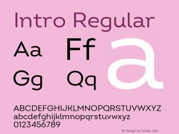 Intro Regular Version 2.000 Font Sample