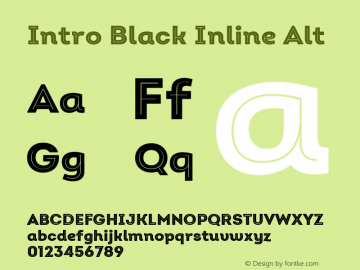 Intro Black Inline Alt Version 2.000 Font Sample