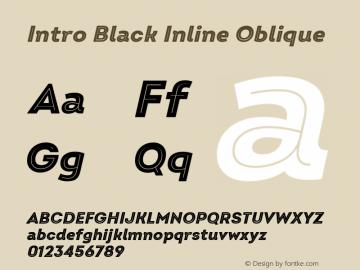 Intro Black Inline Oblique Version 2.000 Font Sample