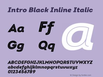 Intro Black Inline Italic Version 2.000 Font Sample
